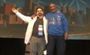 Hank, the owner of Nurse411.com onstage with Bill Cosby singing their high school alma mater song in front of thousands of nurses!!